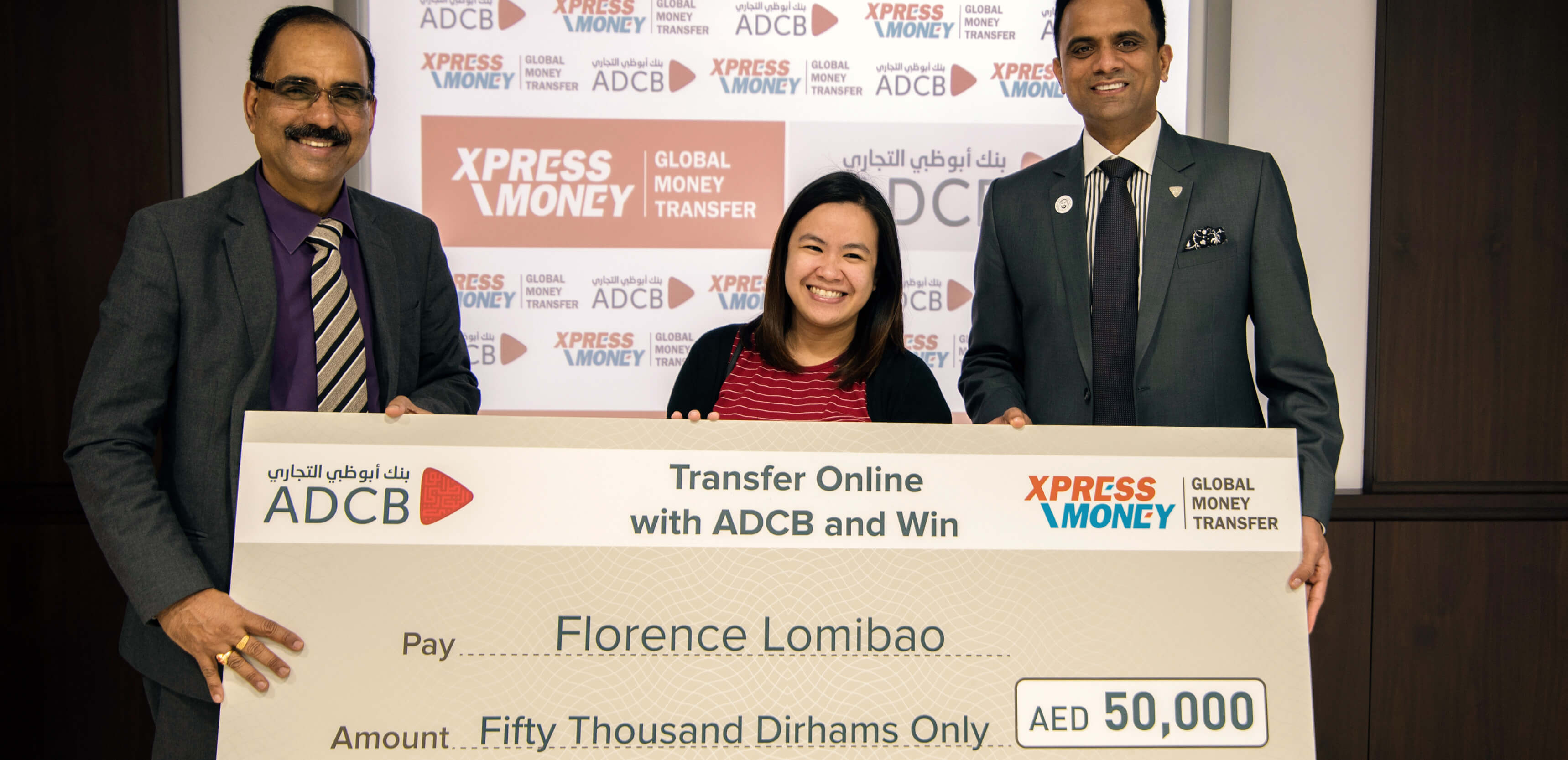 A Filipina Expat Closer To Dream Home After Winning A Prize Money Of AED 50,000 From Xpress Money And ADCB