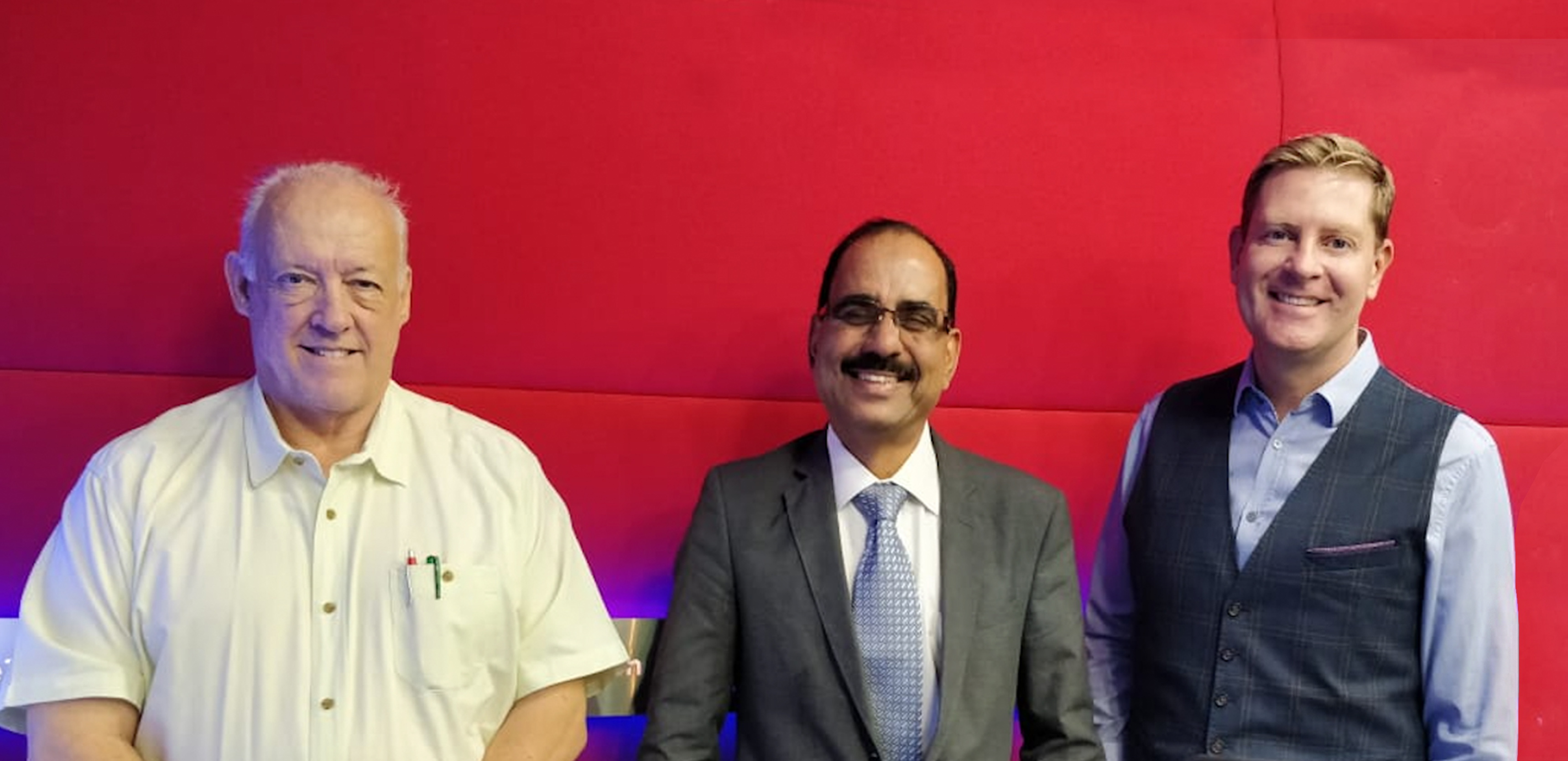 Sudhesh Giriyan At The Business Breakfast Show On Dubai Eye 103.8