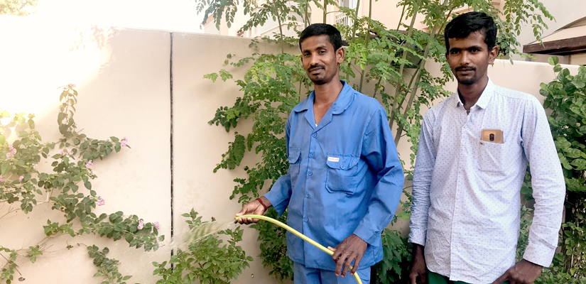 Beyond his handicap; Bhumi is blessed with a green thumb
