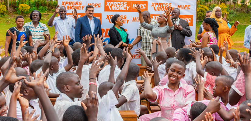 Xpress Money brings a ray of H.O.P.E to students in Uganda